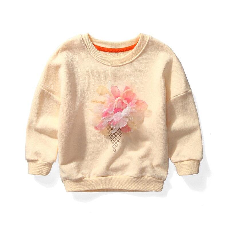 BINIDUCKLING Girl Clothing Sweater New 2017 Baby Girls Clothing Children Kids Clothes Flower Sweatshirt t shirt Hoodies Girl