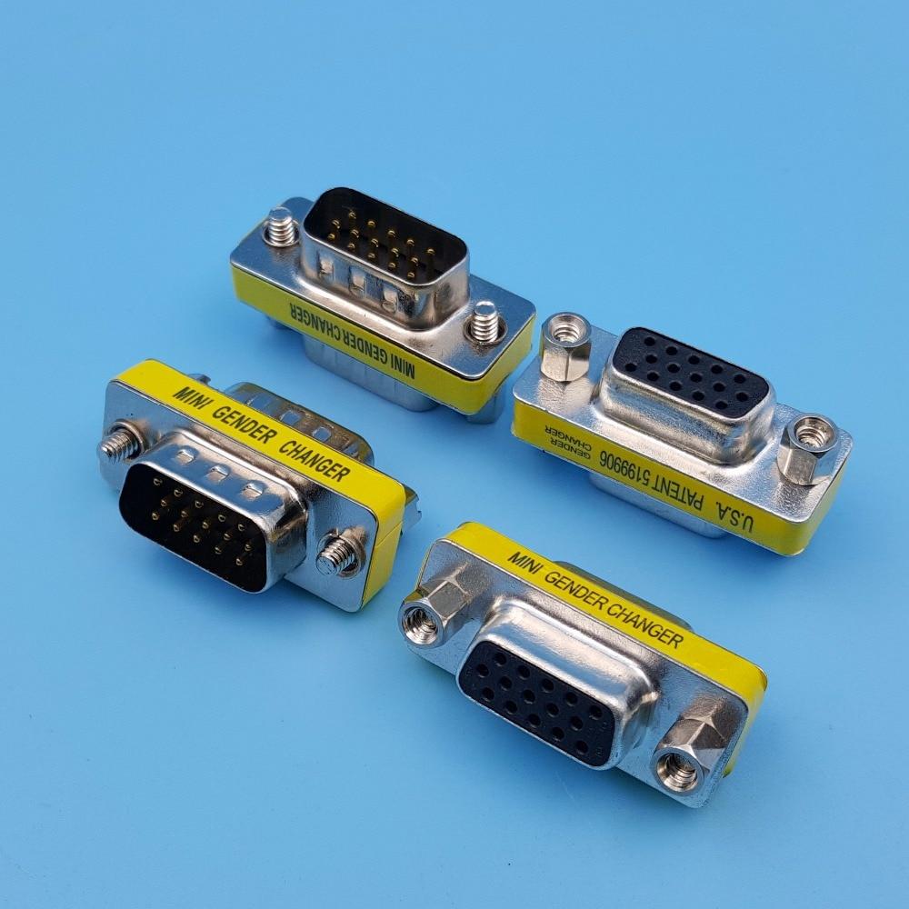 10 шт. DB15 VGA штекер-штекер/гнездо-гнездо 3-рядный 15-контактный мини-переходник