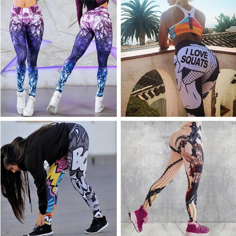 30 Patterns Women's Diamond Color Stitching Leggings Digital Printed Pants Trousers Stretch Pants