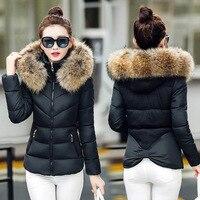 Теплое зимнее пальто Женская парка повседневная короткая куртка с капюшоном женская верхняя одежда модные женские хлопковые зимние куртки...