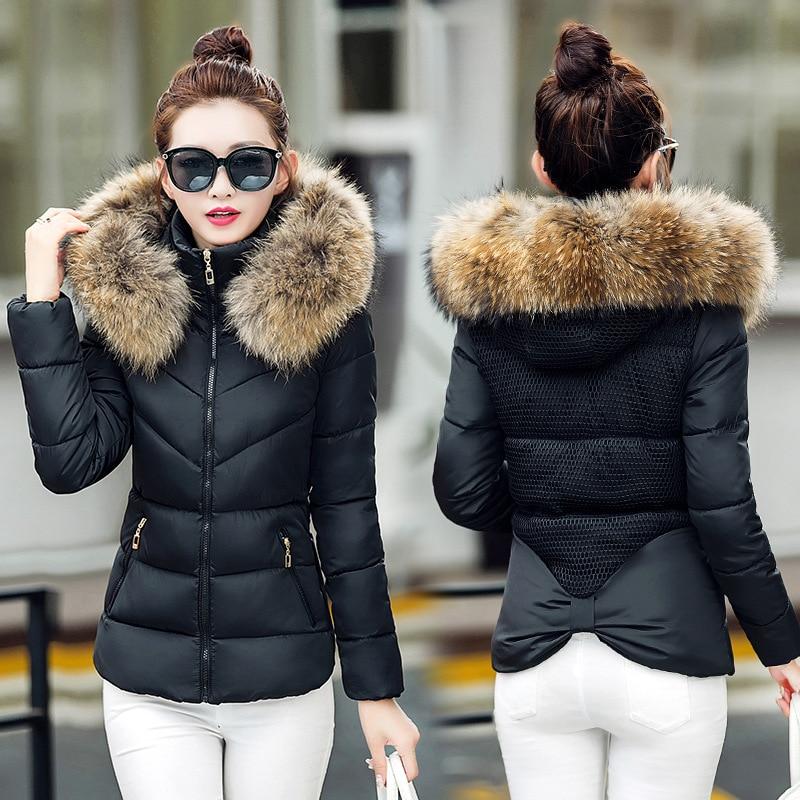 Warm Winter Coat Women   Parka   Casual Short Hooded Jacket Ladies Outwear Fashion Women Cotton Winter Jackets Coats Clothing NHJ633
