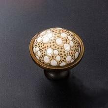 Blossom Knobs Drawer Handles Countryside Kitchen Cabinet Pull Handle / Dresser Decorative Hardware