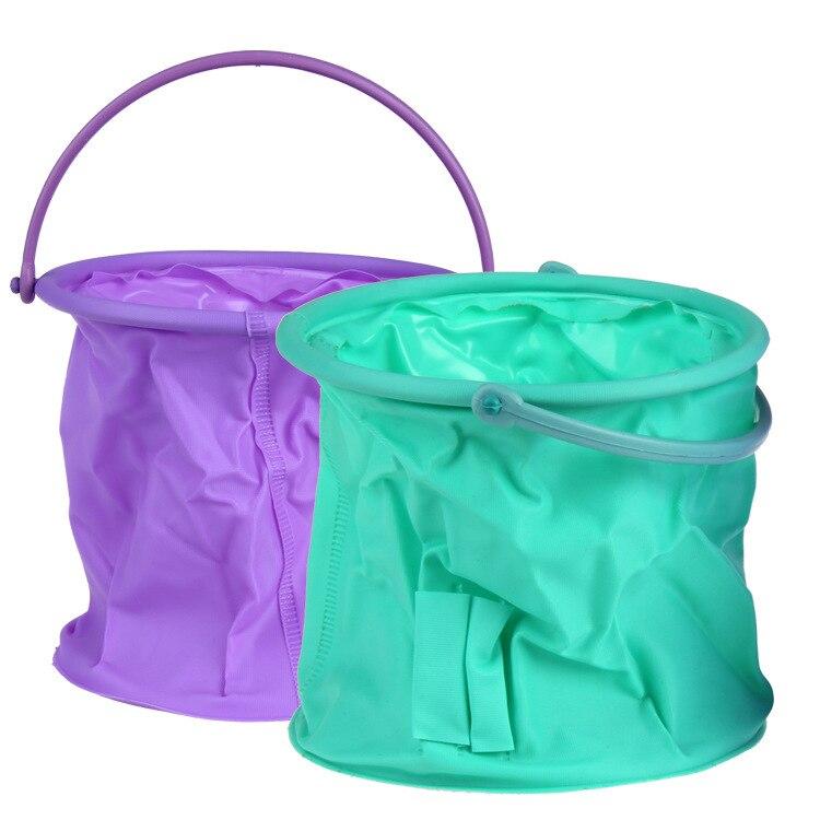 High Quality Plastic Gel Bucket Wash Pen Container Rubber Glue Flexible Fold Barrel Art Supplies Random Color