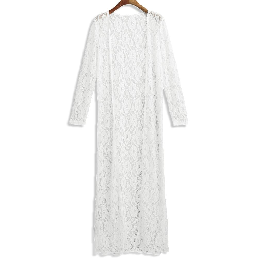 2019 pikem kleit / kimono / kardigan - värvivalikus valge ja must 3