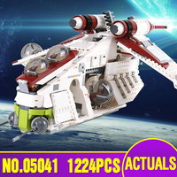 Lepin 05041 05152 Star Series The Wars Republic Gunship Set Educational Building Blocks Bricks Toys as Legoing 75021 Gift 75251