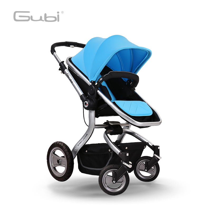 Gubi Baby Stroller Can Sit and lying High Landscape Light folding Umbrella Carts Two-way push trolley