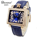 Hot Lovely Arabic digital wristwatch women dress rhinestone watches fashion casual quartz watch leather band clocks Davena 30319