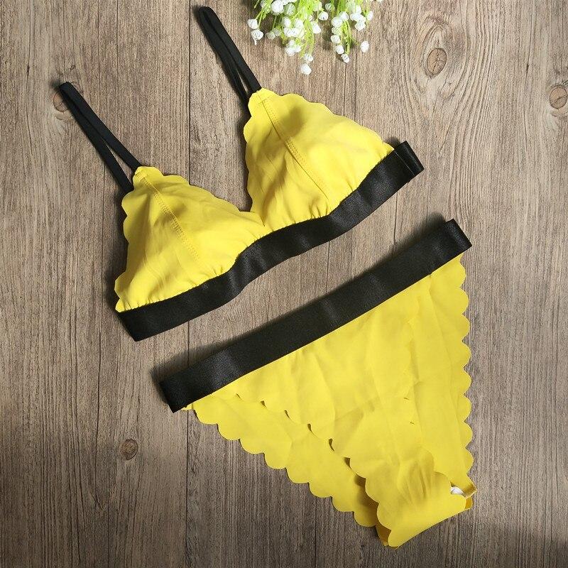 Vertvie, женский сексуальный бразильский однотонный топ, стринги, бикини, комплект, однотонный, без бретелек, летние пляжные купальные костюмы, ...