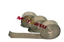 5M & 10M  motorcycle exhausr header pipe wrap heat manifold insulation cloth Roll with 3 clothes