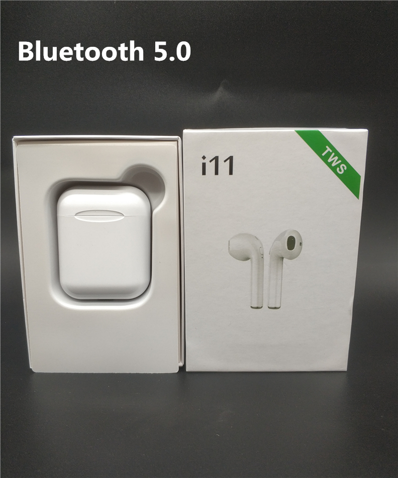Wireless Bluetooth 5.0 i11 TWS Earphones Earpieces mini Earbuds Headsets With Mic For iPhone Xs 7 8 Samsung S6 S8 Xiaomi Huawei