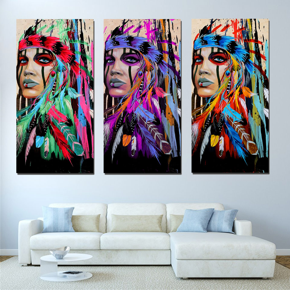 Art Pictures Frame Living Room Hd Printed Painting 3 Panel Native Rhaliexpress: Native American Paintings For Living Room At Home Improvement Advice