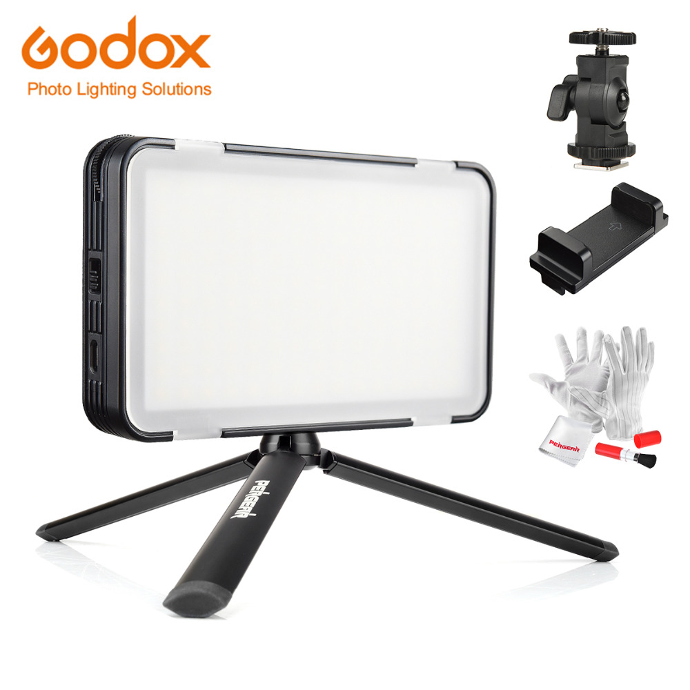 Godox LEDM150 Mobile Phone Video Light Max Power 9W 5600K with USB Power Charge for Portable Camera Camcorder DV with Tripods power switch key vibration motor vibrator replacement flex cable for samsung galaxy note 3 n9000