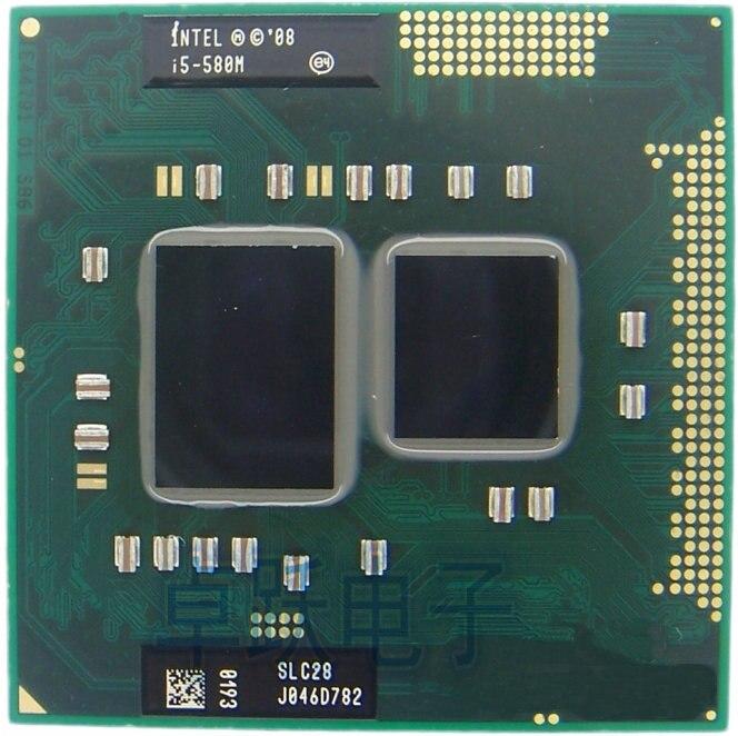 Оригинальный процессор Intel Core i5-580M, 3M кэш, 2,66 ГГц ~ 3,33 ГГц, i5 580M PGA988, процессор для ноутбука HM55 PM55 HM57 QM57