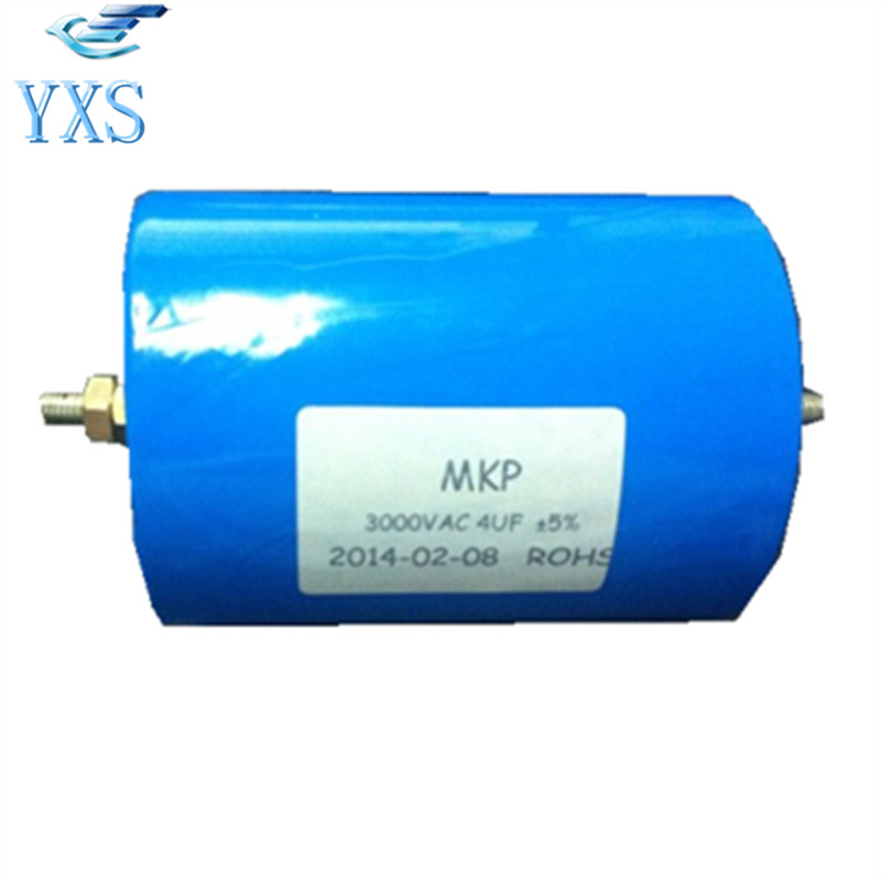 MKP 4UF 3000VAC 6000VDC 405J 3KV High Current High Voltage Pulsed Capacitor 3uf 750vac 2000vdc high frequency high voltage large current resonant capacitor 55 45mm in stock