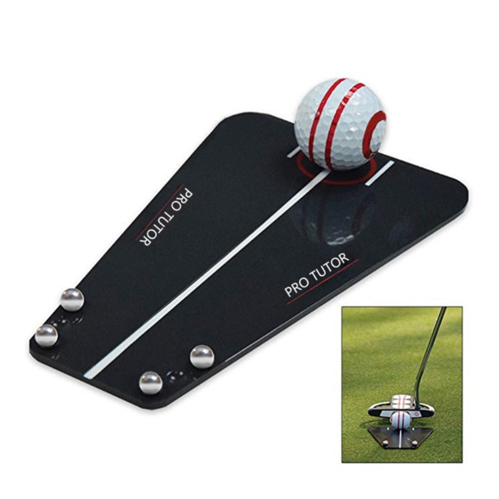 Golf Putting Mirror Training Alignment Portable Mirror Golf Aid Alignment Tools Indoor & Outdoor Putting Tutor Golf Accessories