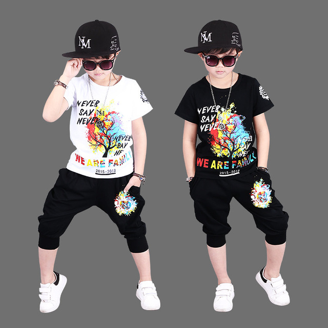 5019bd469192 ZENOBIAPEARL Baby Boys Clothes Sets Children Clothing Summer Short ...