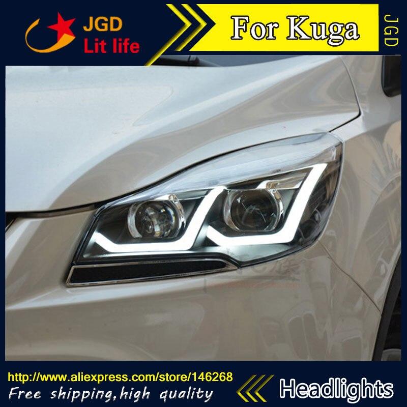 Haute qualité! CACHÉ LED phares phares HID Hernie lampe produits accessoires pour Ford Kuga style De Voiture
