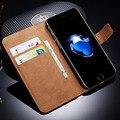 Funda de piel para iphone 7/7 plus cubierta tirón de la carpeta del teléfono caso de la bolsa para apple iphone 7 plus con soporte de la tarjeta tomkas