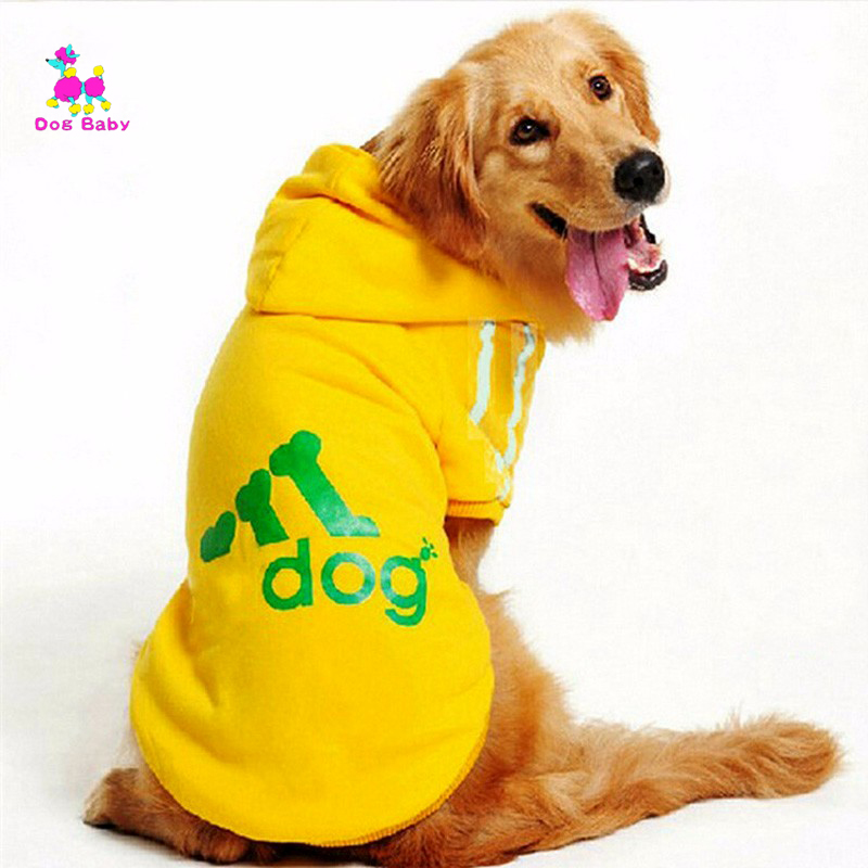 Dogbaby Big Dog Clothes For Golden Retriever Dogs Large Size Winter Dogs Coat Hoodie Apparel
