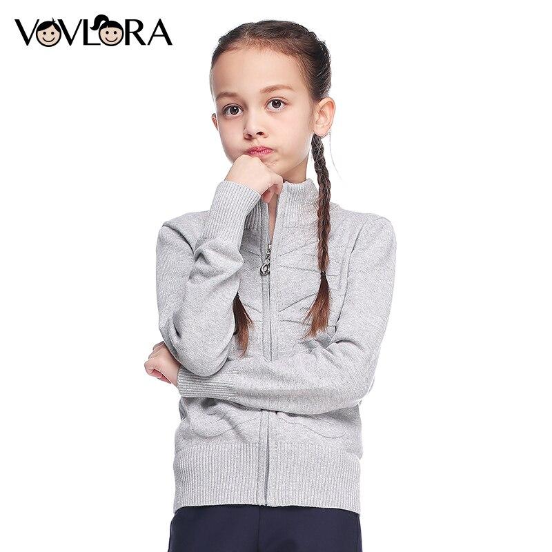 Meninas Camisola de algodão de Gola Alta com zíper escola dos miúdos camisola de malha Listrado primavera 2018 roupa das crianças tamanho 8 9 12 13 15 anos