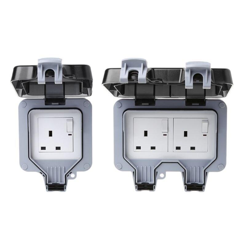 220 250v Uk Standard Outdoor Wall Switch Socket Ip66
