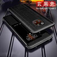 Del Cuoio genuino di Caso di Vibrazione Per Huawei MATE 20 PRO, compagno di 20 x, P20 PRO, compagno di 10 pro, compagno di 9 pro copertura di Lusso Primo strato di pelle bovina