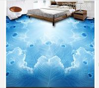 Customized 3d wallpaper 3d pvc floor painting murals peacock 3D stereo floor paint beauty wall room decoration
