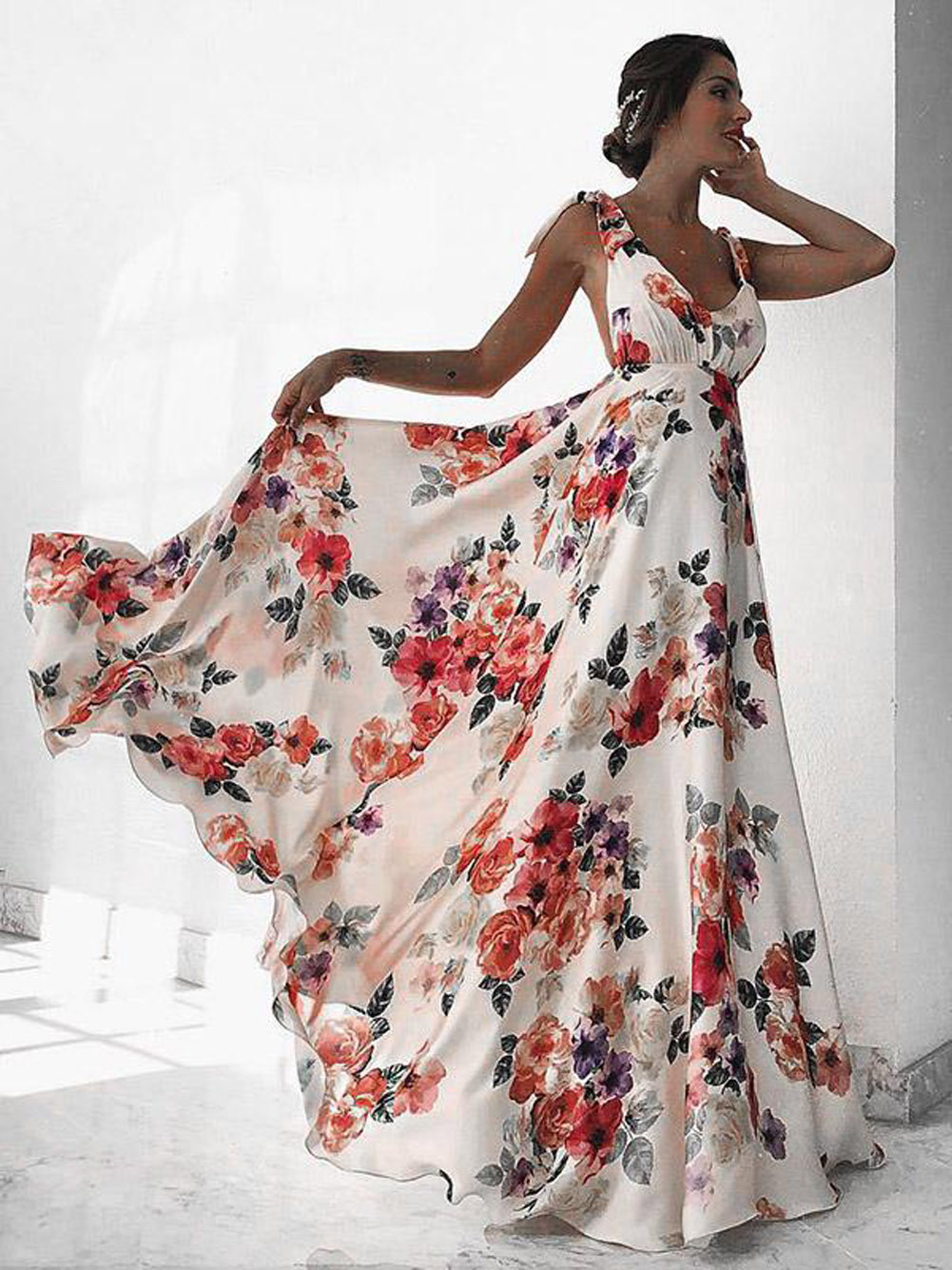 Dresses Maxi Fashion Long Cocktail Casual Loose beach women/'s summer V Neck