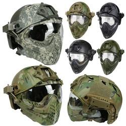 Taktische Helm Maske Airsoft Paintball Insgesamt Helm für CS Militärische Taktische Schutzhelm Airsoft Full Face Schutz