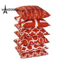 Nordic Scandinavian Cover Cushion Geometric Red Cushions Home Decoration For Sofa Customized Pillow Photo Pillowcase