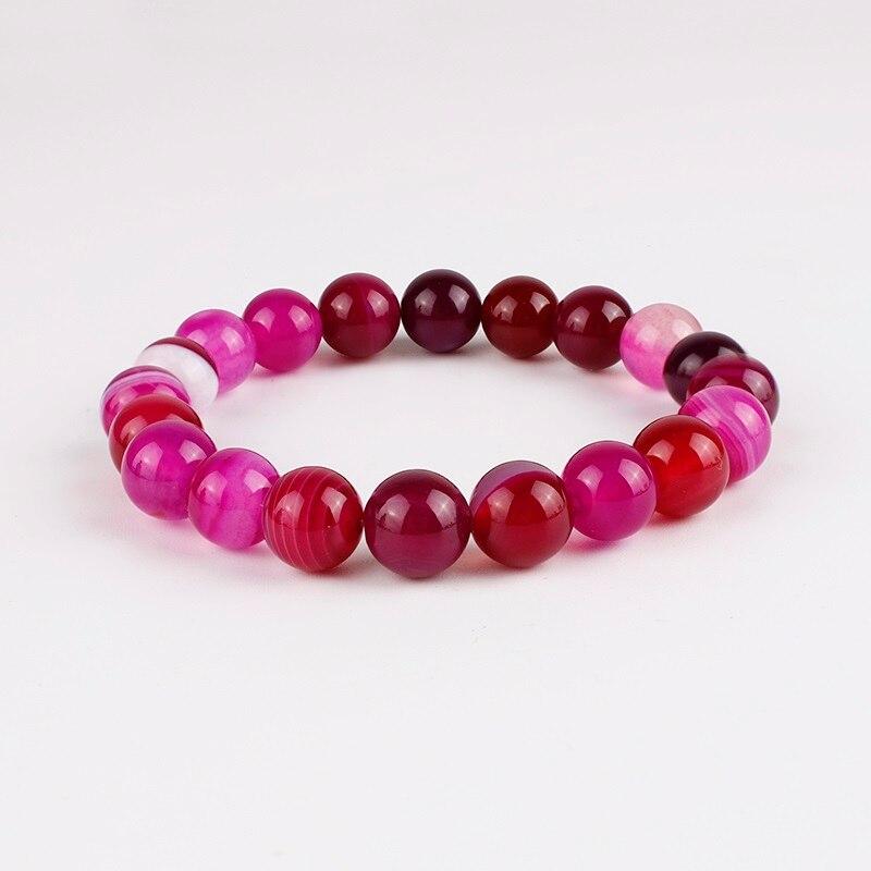 Meajoe трендовый натуральный камень любовь фиолетовый браслет из бисера Винтаж Шарм круглая цепь бисер браслеты ювелирные изделия для женщин друг подарок - Окраска металла: model 10