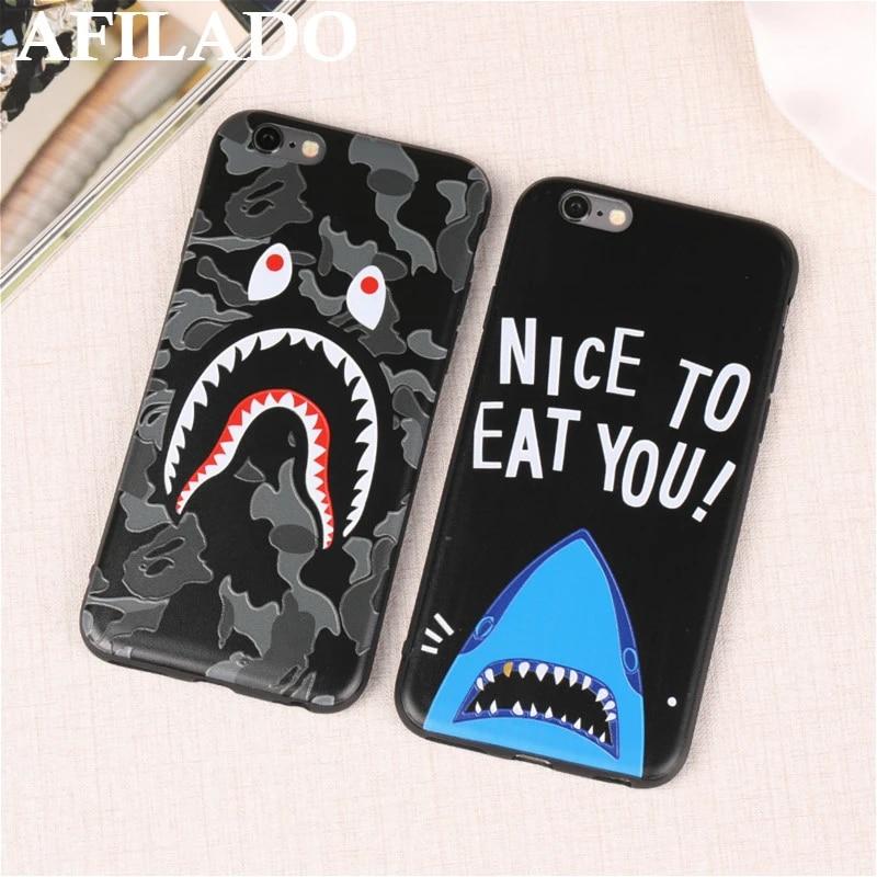3D Dessin Animé en Relief Requin Camouflage Doux Mince Coque Cas de Couverture pour IPhone 5S Silicone Ultra Mince Téléphone Capa Couvre pour iphone 5