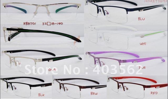 Stainless steel frame and acetate temples optical frames with high quality and innovative design, 10pcs/lot  glasses