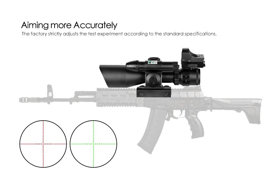 2.5-10x40 tactical rifle scope laser verde iluminado