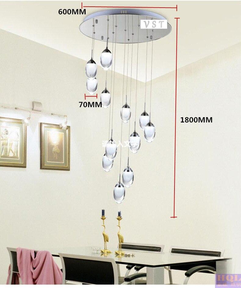 16 kopf LED Kronleuchter Licht fashion zweig Moderne Weihnachts Hotel Beleuchtung ChandelierD600xH1800mm Kostenloser versand - 5