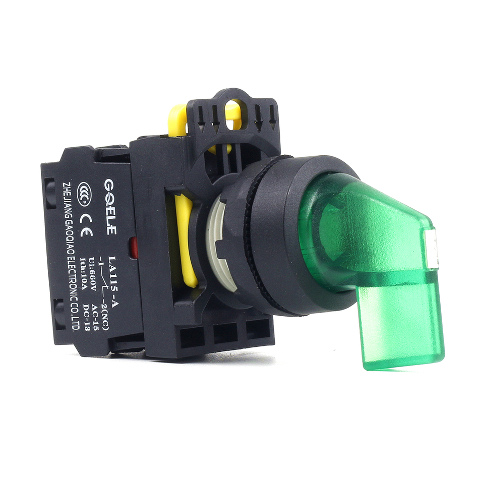 5 PCS Push button switch Selector switch Long handle 2-Position LED Latching IP40 1NO 1NC 1N0+1NC 2NO 2NC LA115-A1-11CXD-R31 1 x 16mm od led ring illuminated latching push button switch 2no 2nc