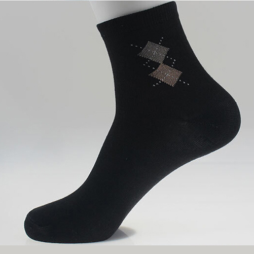 Fashion Hot Sale Meias Weed Men's Sock Brand Quality Fashion Double Rhombus 5 Colors Style Blending Socks For Men Good Quality