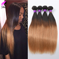 1b/27 Peruvian Straight Virgin Hair 4 Bundles Peruvian Ombre Hair Ombre Bundles 8A Peruvian Virgin Hair Straight Human Ombre