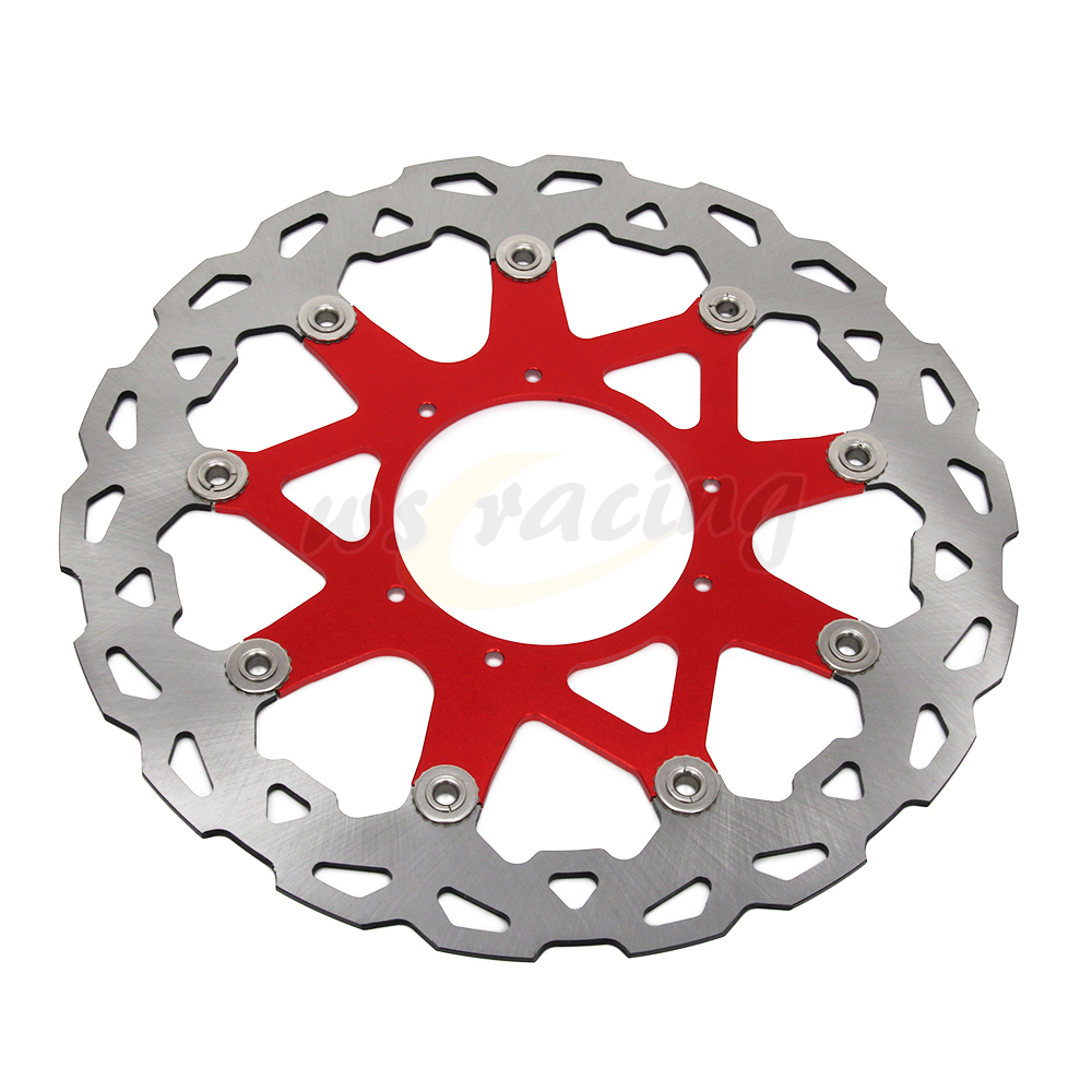 CNC 320MM Motorcycle Front Floating Brake Disc Rotor For HONDA CRF250X CRF250R CRF450X 04-15 CRF450R 02-15 keoghs real adelin 260mm floating brake disc high quality for yamaha scooter cygnus modify