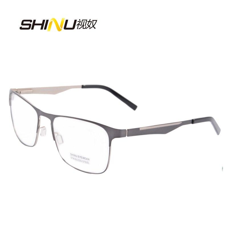 očala moški optična očala okvir prilagodljivo kovinsko steklo iz - Oblačilni dodatki - Fotografija 6