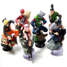 6pcs/lot Naruto 8cm Chess Action Figure New Sasuke Ninja Model Toy(China)