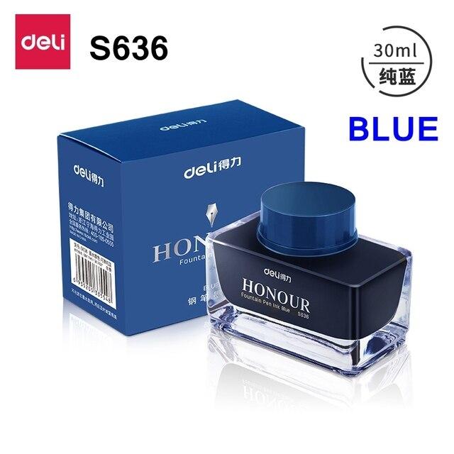 Deli s636 s635 Fountain pen ink 30ml 50ml bottle Black blue Pen ink blueblack ink wholesale 5