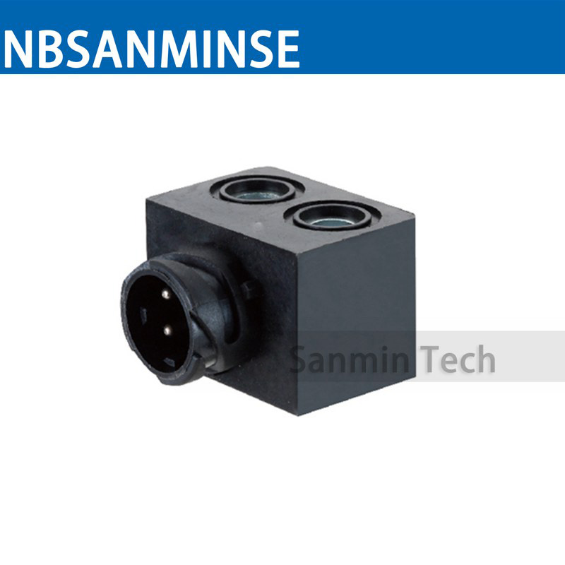 20pcs/lot ABS-X Automobile Valve Series Coil Electrical Solenoid Valve Coil DC12V Voltage Plug Type Valve Coil Sanmin car solenoid valve coil connector 24v dc inner hole diameter 20mm high 55mm