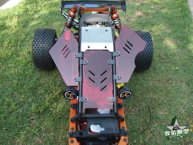 バハ5bアップグレードwindows用rovan km hpi 1/5 rcカー防塵窓(赤)