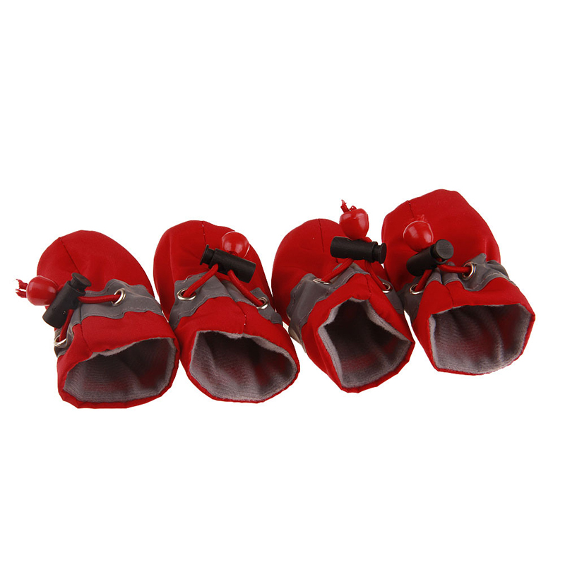 Pet Dog Shoes 4PCS Dog Antiskid Shoes Soft soled Waterproof Small Dog Prewalkers Soft Pet Products Supplies Pet Paw Care in Dog Shoes from Home Garden
