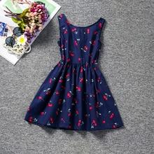 С рисунком вишни Летний стиль Обувь для девочек детское платье Обувь для девочек Повседневное Платья для женщин детская одежда, Vestidos infantis Одежда для девочек