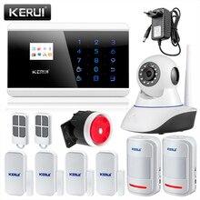 KERUI android ios kontrola aplikacji GSM PSTN domowy System alarmowy włamaniowy rosyjski hiszpański francuski j. Angielski Alarm