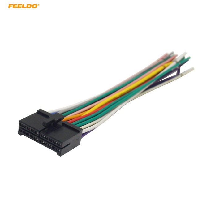 feeldo 1pc 20pin universal aftermarket car head unit dvd stereo rh aliexpress com Car Stereo Wiring Harness 2002 Odyssey 2000 F150 Engine Wire Harness