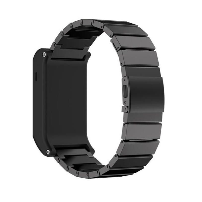 HL Klasik Buckle Mode Stailess Steel Bracelet Strap Watch Band untuk - Elektronik pintar