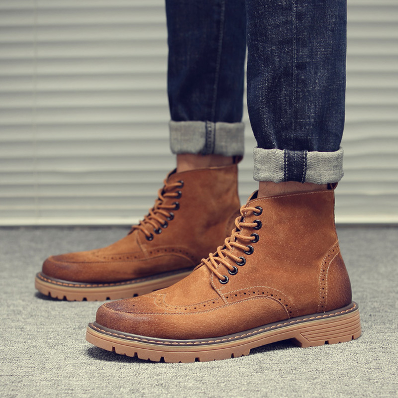Winter Shoes Mens Desert Boots' Work&Safety Winter Casual Snow Boots Men Round Toe Ankle Winter Boots Men Black Military Boot y s 2016 new mens casual desert boots mans genuine leather flat shoes adults round toe ankle chukka adults quilted boots y 100